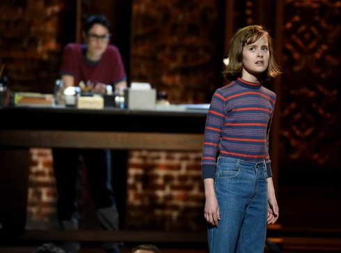 NEW YORK, NY - JUNE 07:  Sydney Lucas performs onstage with the cast of 'Fun Home' at the 2015 Tony Awards at Radio City Music Hall on June 7, 2015 in New York City.  (Photo by Theo Wargo/Getty Images for Tony Awards Productions)